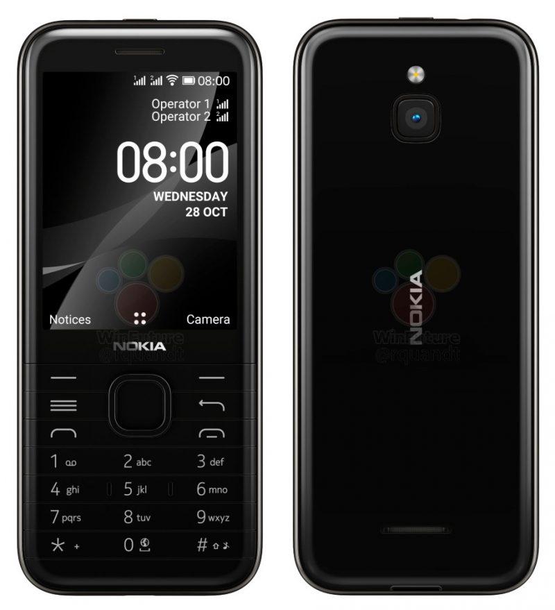 Nokia 8000 4G mustana. Kuva: WinFuture.de.