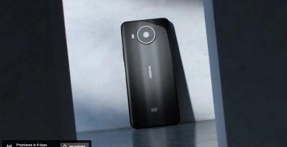 Sittemmin poistettu YouTube-live-ennakko paljasti jo kuvan Nokia 8 V 5G UW:stä.