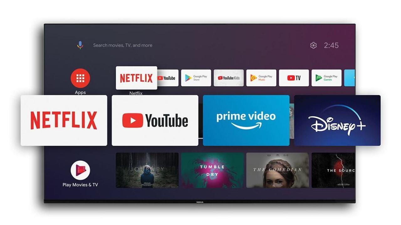 Nokia Smart TV -televisioissa on Android TV -käyttöjärjestelmä.