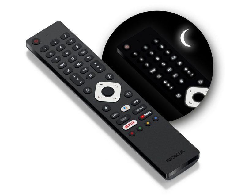 Nokia Smart TV -televisioiden kaukosäädin.