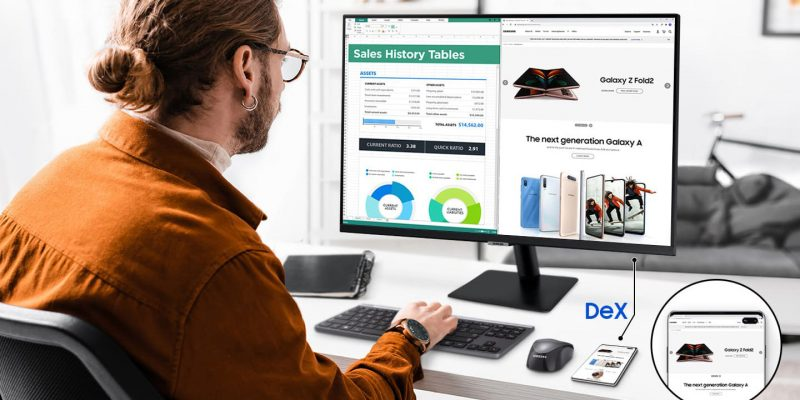 Smart Monitorit tukevat Samsungin DeXiä.