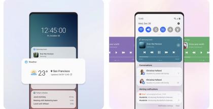 One UI 3.0 tuo uudistuksia ilmoituspaneeliin.