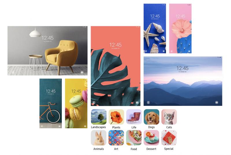 Vaihtuvat kuvat lukitulla näytöllä saavat uusia kategorioita One UI 3.0:ssa.