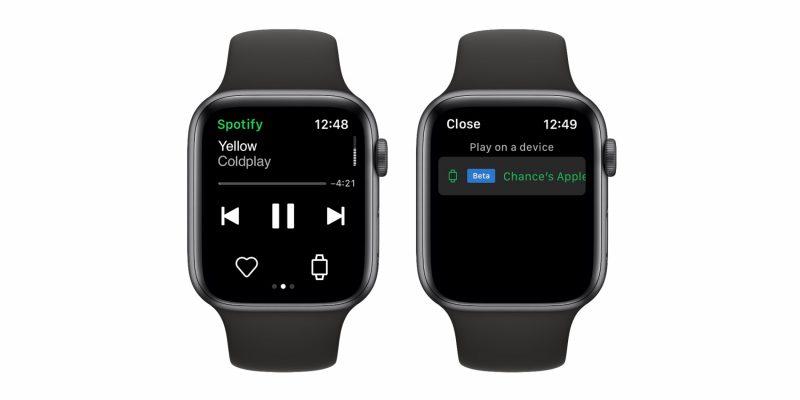 Spotify tukee jatkossa suoratoistoa suoraan Apple Watchissa.