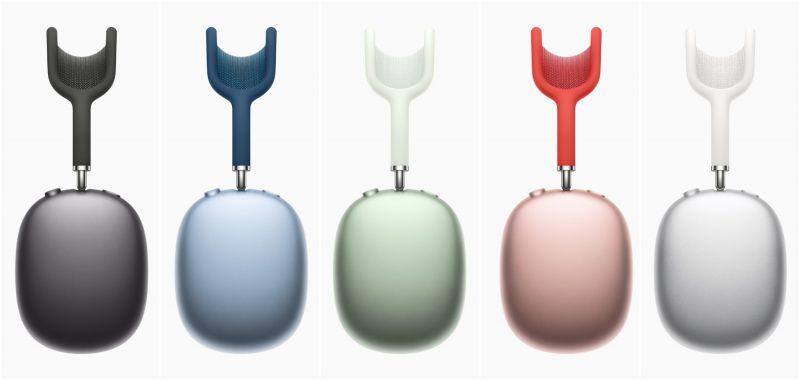 AirPods Max -kuulokkeet eri väreissä.