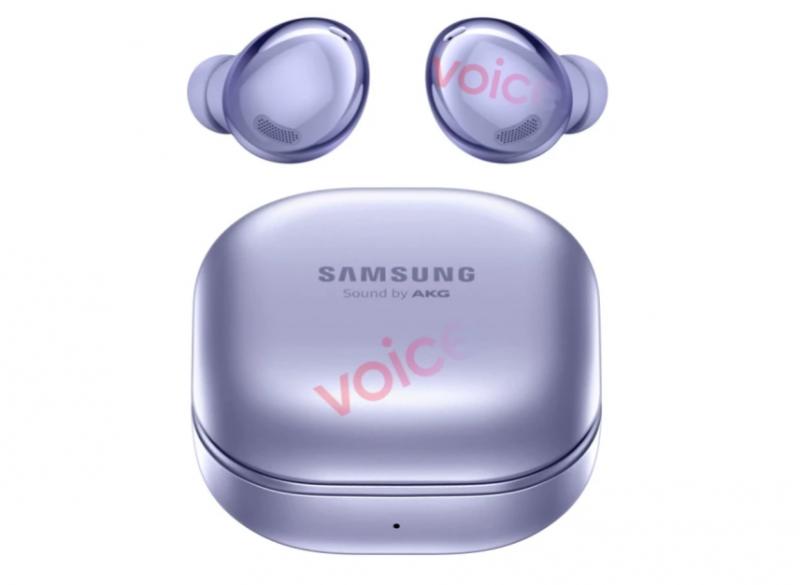 Samsung Galaxy Buds Pro, violetti. Kuva: Evan Blass / Voice.
