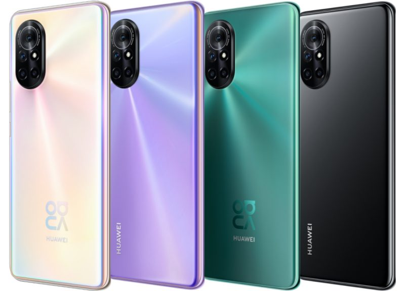 Huawei Nova 8:n värivaihtoehdot.