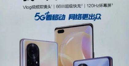 Vuotanut Huawei Nova 8 -sarjan mainos.