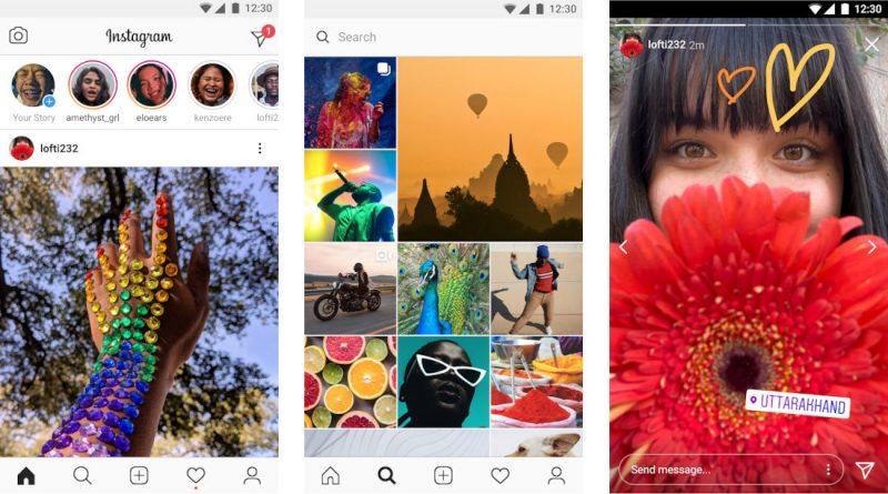 Instagram Lite on kevennetty versio Instagramin tavallisesta sovelluksesta.