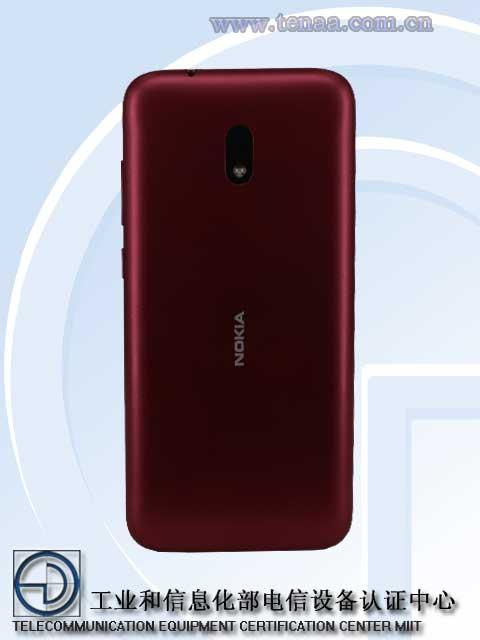 Nokia C1 Plussassa on yksi takakamera.
