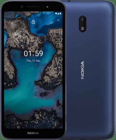 Nokia C1 Plus sinisenä.