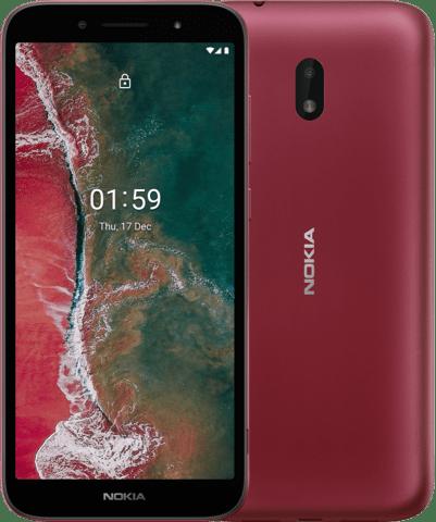 Nokia C1 Plus punaisena.