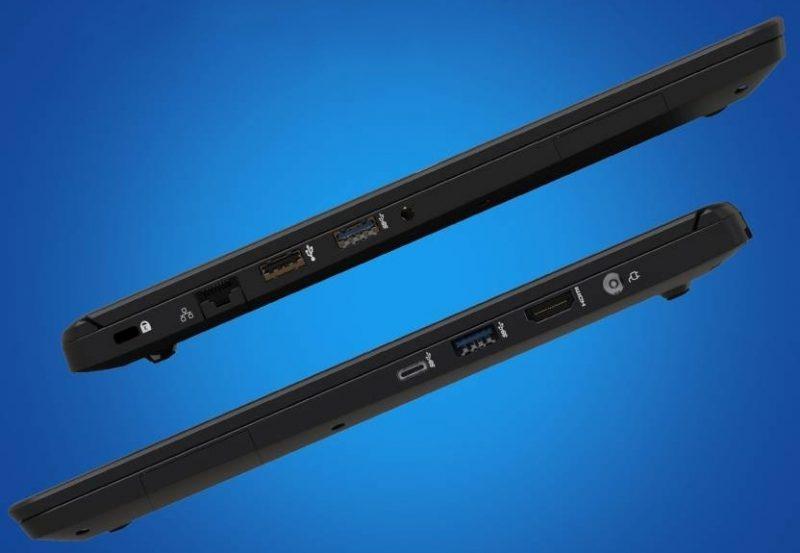 Nokia PureBook X14:n liitännät.