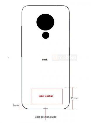 Nokia-älypuhelinmalli mallikoodiltaan TA-1322 FCC:n tietokannassa paljastuneessa kuvassa.