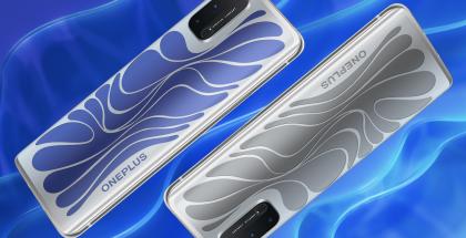 OnePlus 8T Concept voi vaihtaa takapintansa kuvioinnin väriä.