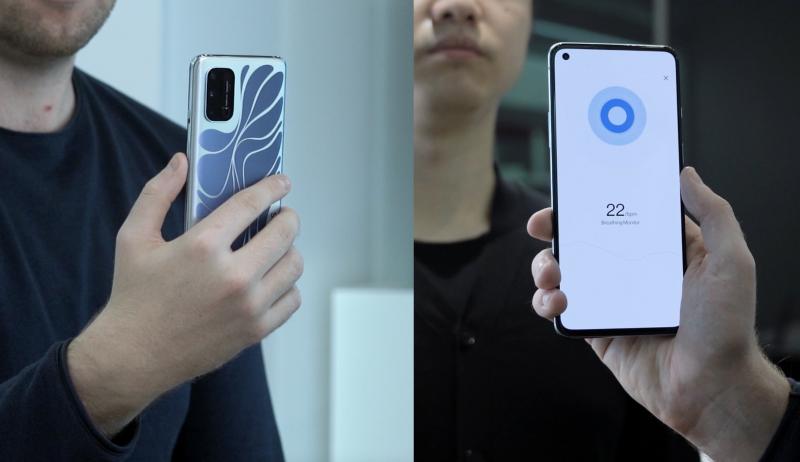 OnePlus 8T Concept osaa havainnoida ihmisen hengitystahdin.