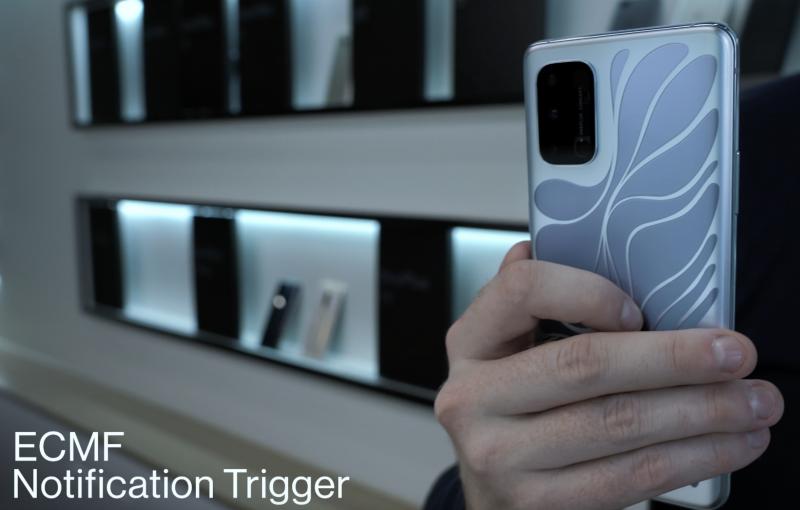 OnePlus 8T Conceptin takapinnan väri voi vaihdella ilmoitusten perusteella hopean...