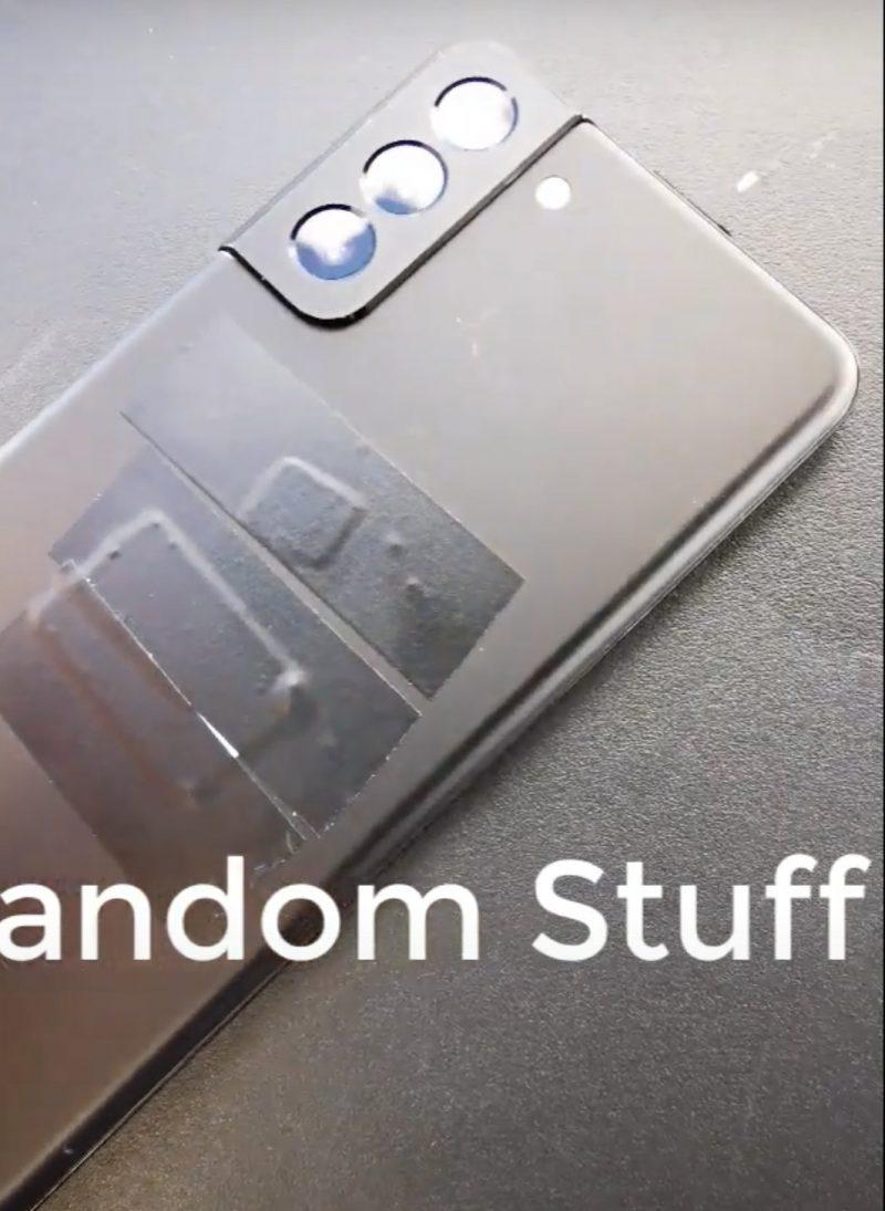Kuvankaappaus videolta. Samsung Galaxy S21+:n takakamerat.