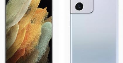 Samsung Galaxy S21 Ultra 5G, Phantom Silver -värissä. Kuva: WinFuture.de.