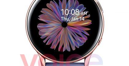 Samsung Galaxy Watch Active2:n uusi värivaihtoehto ruusukulta. Kuva: Evan Blass / Voice.