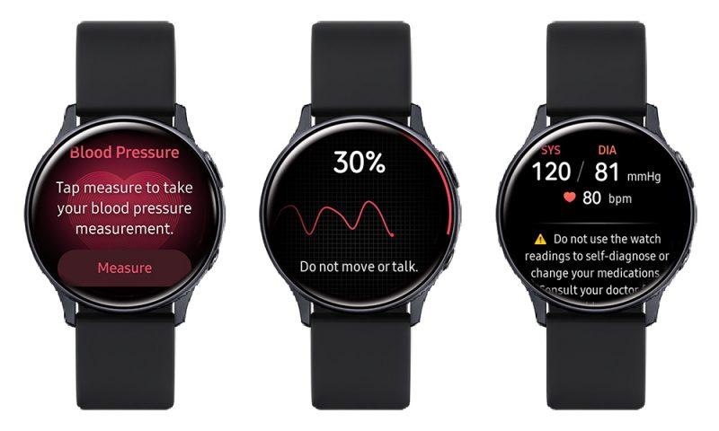 Verenpaineen mittaus Samsung Galaxy Watch Active2:lla.