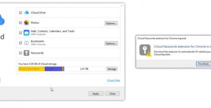 Applen iCloud-salasanat -laajennus Google Chromella.