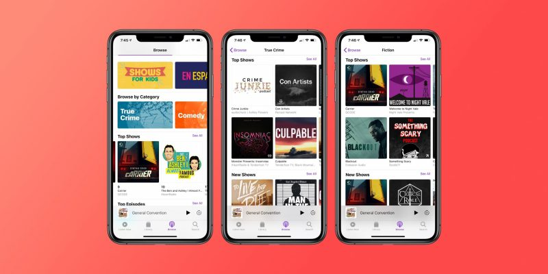 Applen Podcastit-sovellus.