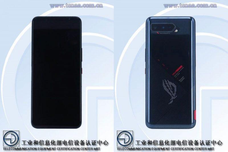 Asus ROG Phone 5 Kiinan TENAA-viranomaisen kuvissa.