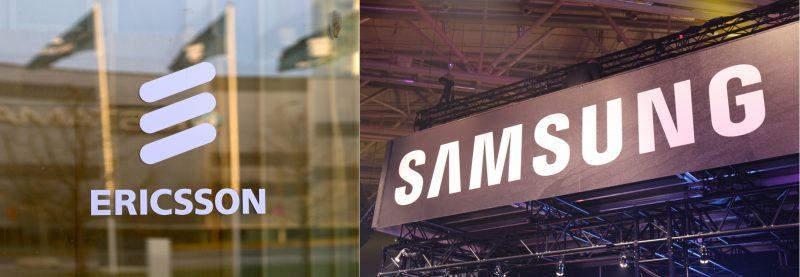Ericsson + Samsung logot.