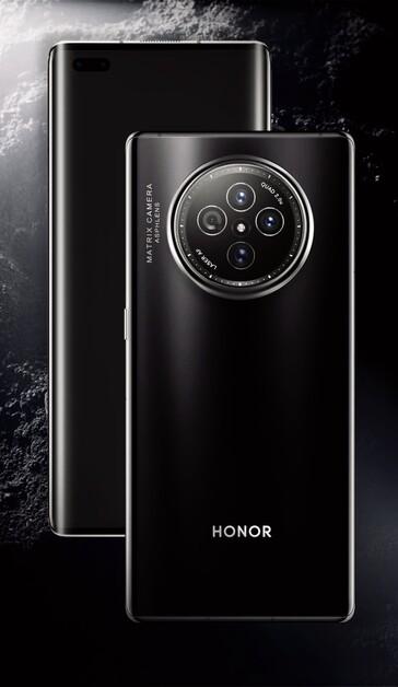 Honor V40 -sarjan älypuhelimen on huhuttu voivan näyttää tämänlaiselta.