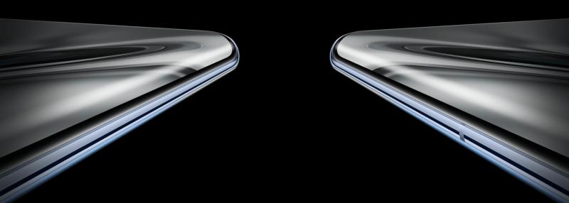 Näyttö kaartuu Honor V40 5G:ssä kyljille jopa 80 asteen kulmassa.