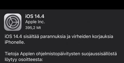iOS 14.4 on nyt ladattavissa.