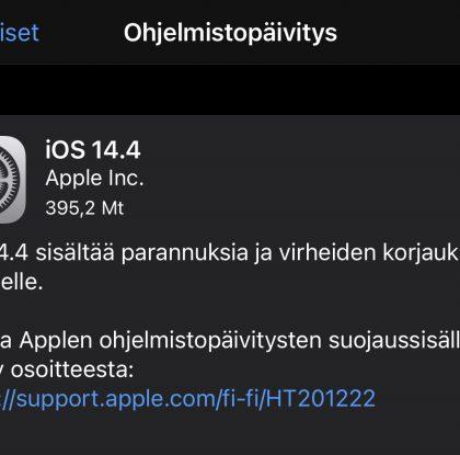 Apple julkaisi iOS ja iPadOS 14.4:n sekä watchOS 7.3:n – päivitykset nyt ladattavissa iPhoneille, iPadeille ja Apple Watcheille