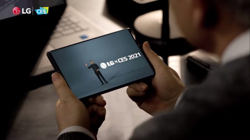 CES 2021 -messujen yhteydessä alkuvuodesta esitelty LG Rollable.