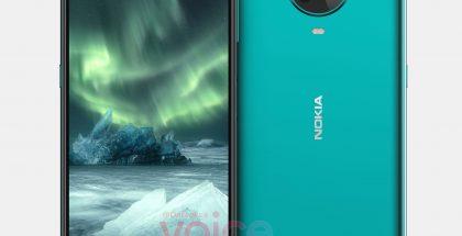 Vuotaja OnLeaksin paljastama mallinnos uudesta Nokia-älypuhelimesta. Onko tässä Nokia 6.4?