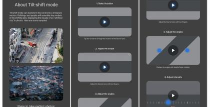 OnePlussan Kamera-sovellus on saamassa muun muassa uuden Tilt-shift-kuvaustilan. Kuva: XDA Developers.