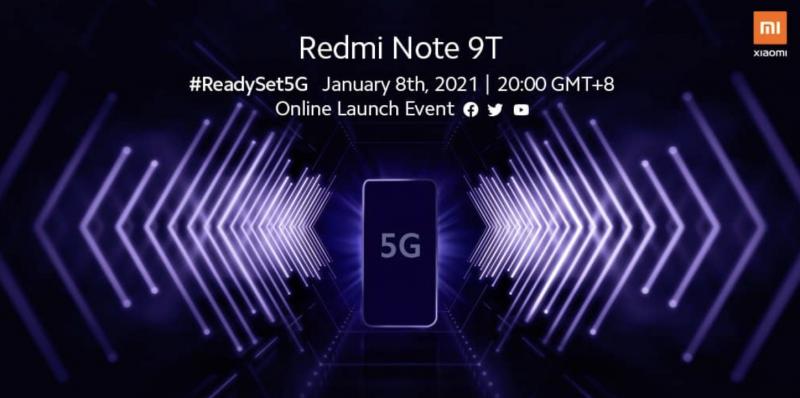 Redmi Note 9T -julkistus on ohjelmassa perjantaina 8. tammikuuta kello 14 Suomen aikaa.