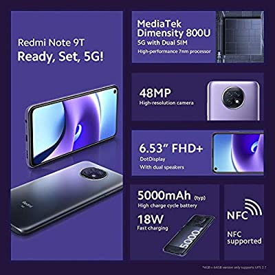 Redmi Note 9T:n paljastunut mainoskuva.