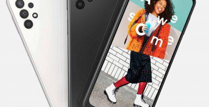 Samsung Galaxy A32 5G sisältää 6,5 tuuman näytön ja neljä takakameraa.