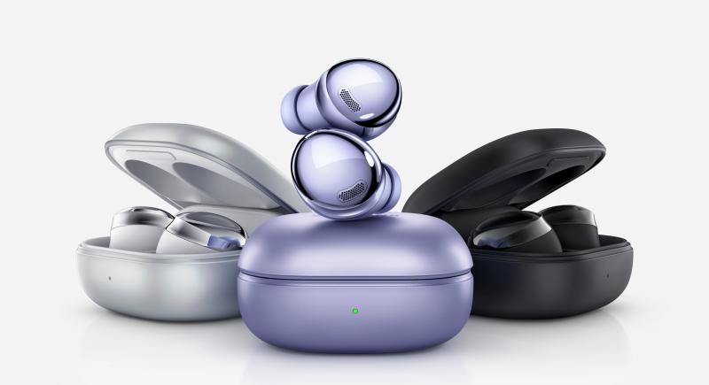 Samsung Galaxy Buds Pro -kuulokkeet eri väreissä.