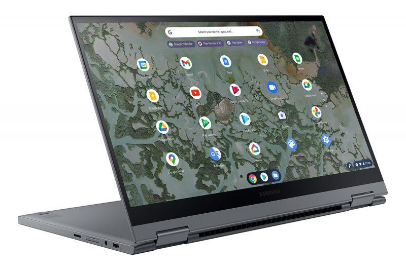 Galaxy Chromebook 2:n näyttö avautuu 180 astetta.