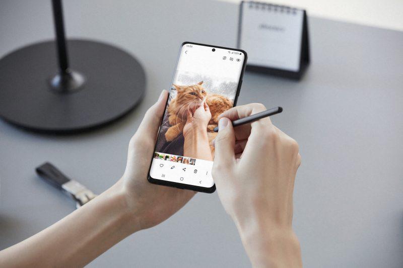Galaxy S21 Ultra 5G:ssä on S Pen -tuki.