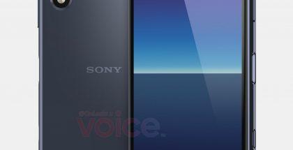 Uudessa kompaktissa Sonyssa on lovi näytössä etukameralle sekä kaksi takakameraa. Kuva: OnLeaks / Voice.