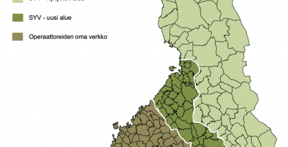 Näin Suomen Yhteisverkon alue laajenee.