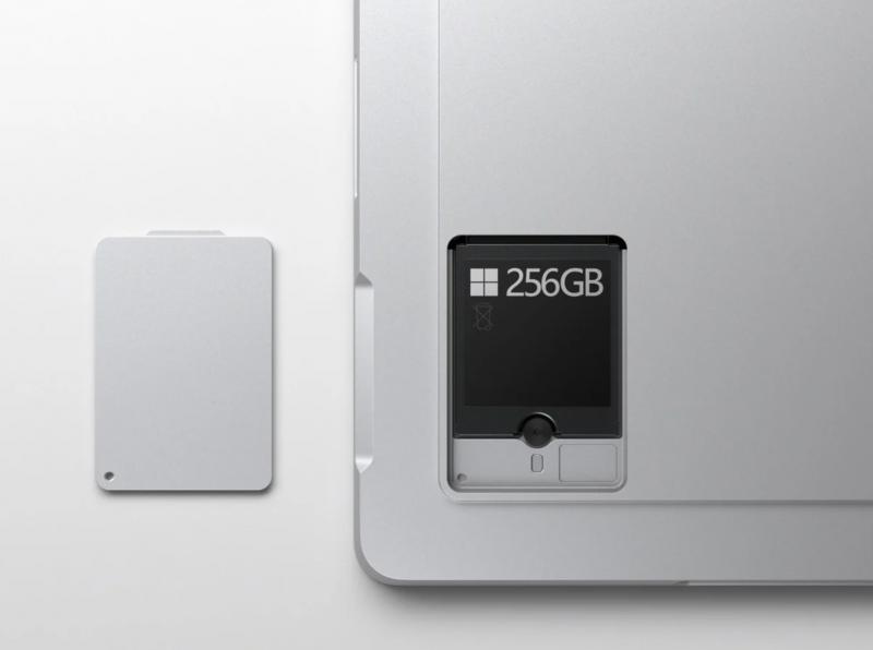 Surface Pro 7+:n SSD-tallennusmuisti on verrattain helposti päivitettävissä.