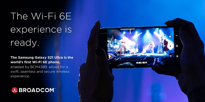 Samsung Galaxy S21 Ultra 5G on ensimmäinen Wi-Fi 6E -älypuhelin kansainvälisillä markkinoilla.