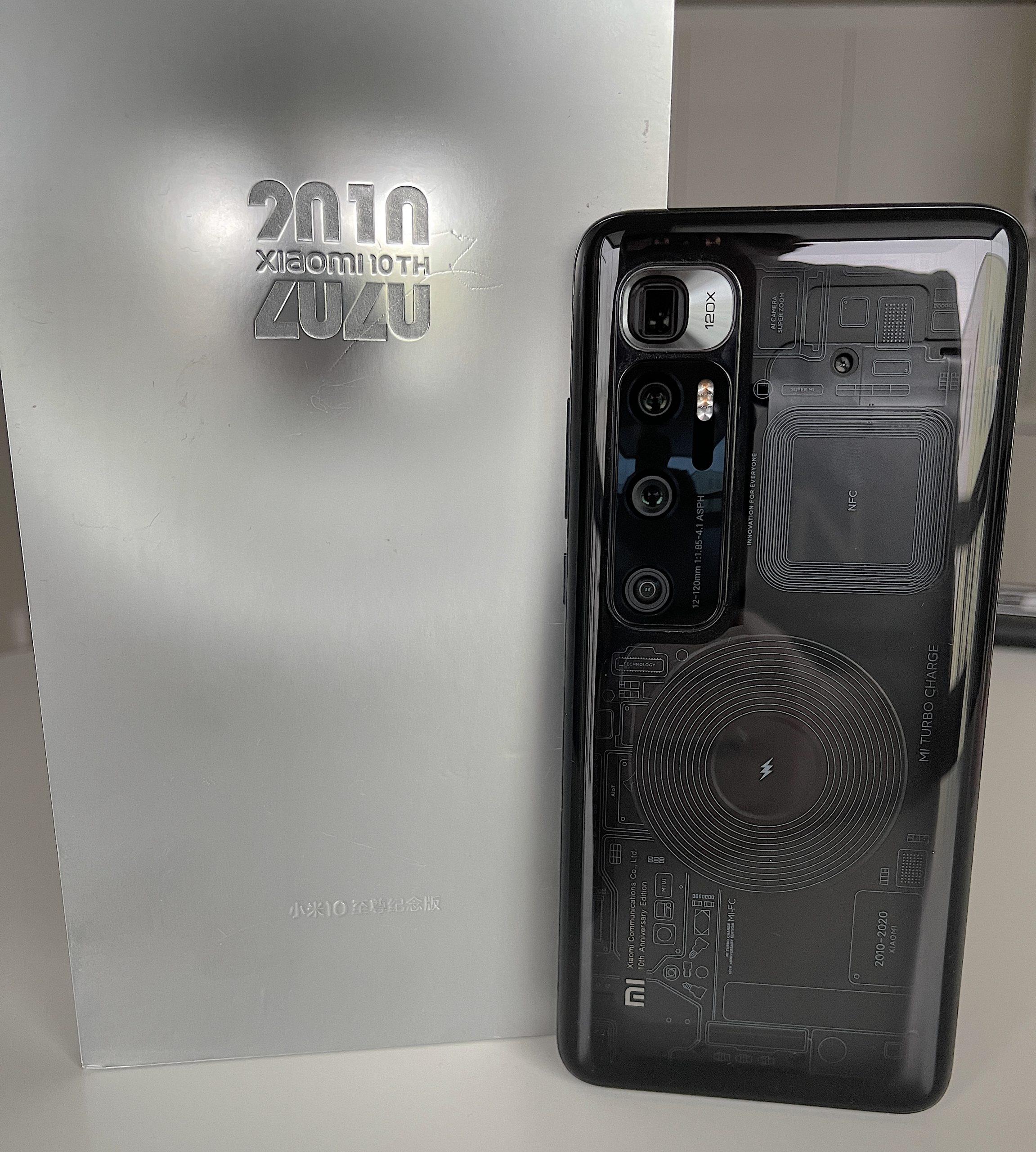 Elokuussa 2020 julkistettu Mi 10 Ultra juhlisti Xiaomin 10-vuotista historiaa yhtiönä.