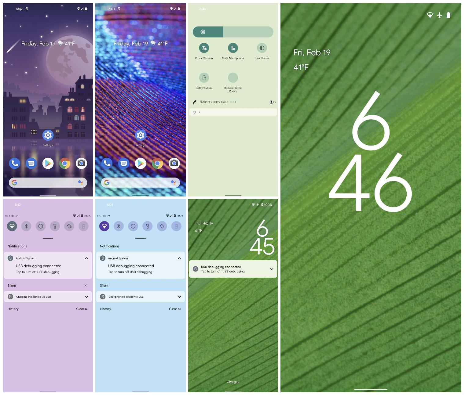 Myös lukitusnäkymä on saamassa uutta tyyliä Android 12:ssa.