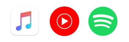 Esimerkiksi Apple Music ja YouTube Music ovat vaihtoehtoja Spotifylle.