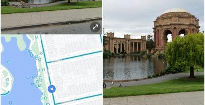 Google Mapsin Android-sovellukseen on jakelussa näytön kartalle ja Street View'lle jakava jaetun näytön näkymä. Kuvat: 9to5Google.